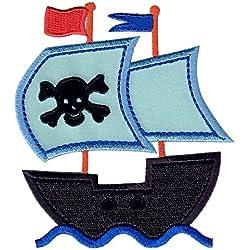 Parche para ropa de barco pirata, termoadhesivo.