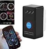 Swiftswan Bluetooth Adapter Scanner Torque Android OBD2 OBDII Code Reader Scan Tool(Color Black)
