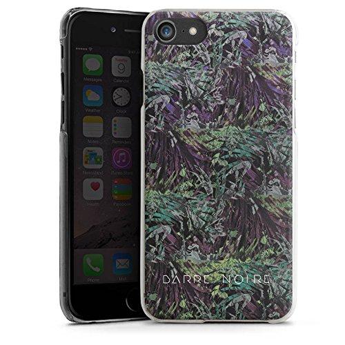 Apple iPhone X Silikon Hülle Case Schutzhülle BARRE NOIRE Blumen dschungel Hard Case transparent