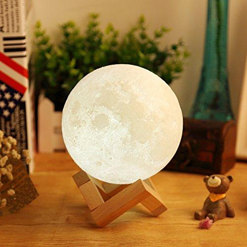 AGM Lámpara de Luna en 3D LED Luz Nocturna