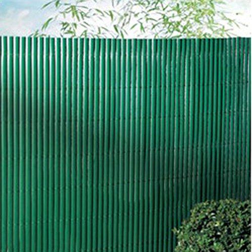 Canisse en PVC double face en rouleau coloris vert, 1,50m x 3m -PEGANE-