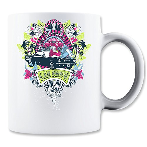 Car Show Las Vegas Casino Girls Smoking Skull Cards Tasse Classique de thé Tasse de café