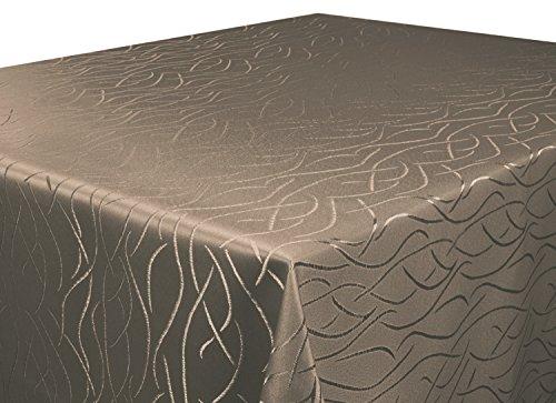 Silver Tischdecke dunkel braun 130x260 cm eckig in glanzvoller Streifenoptik, eckig - Größe, Farbe...