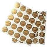 Flor de la Vida Pegatinas, etiquetas, Oro, 2,5cm de diámetro, 50unidades)