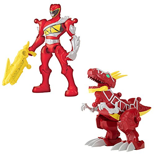 (Power Rangers – Mixx 'N' Morph – Dino Charge – Red Ranger & T-Rex Zord [UK Import])