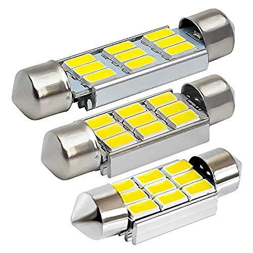 C10W C5W 9 SMD 5630 5730 Lampadina a LED Errore interno auto gratuito Lampadine a cupola per interni 36mm 39mm 41mm NO Errore Bianco 12V 5-Pack (Emissione del colore: 5PCS-39mm)