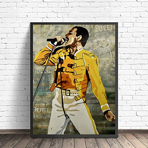 Yhyxll Freddie Mercury Poster Queen Band Wallpaper