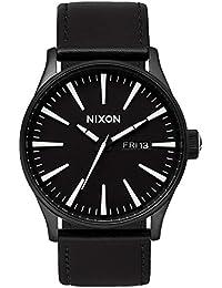 Nixon Herren-Armbanduhr XL Analog Quarz Leder A105005-00