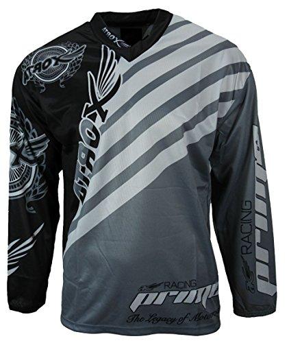 Heyberry MX-Cross Quad Motocross Shirt Jersey Trikot schwarz weiß grau Gr. L