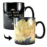 Game of Thrones tazza effetto termico di Westeros Essos ceramica nera 400ml
