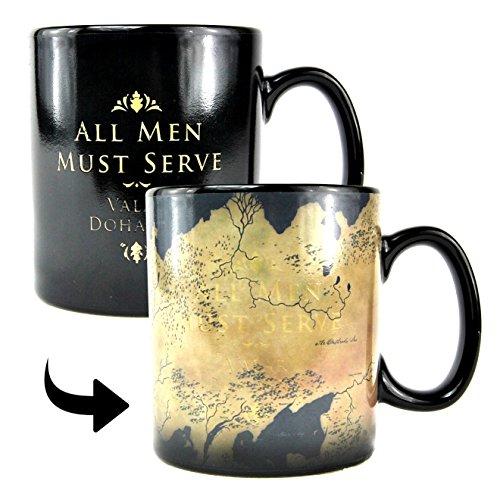 Game Of Thrones Juego de Tronos Taza Efecto Térmico de Poniente Essos