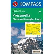 Presanella 1 : 25 000: Madonna di Campiglio, Tonale.  Wandern / Rad. Carta escursioni / bike. GPS-genau