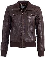 Tom Tailor - Damen Leder Blouson in der Farbe Braun, 2999105