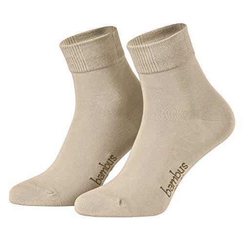 Piarini Gr. 47-50 6 Paar Bambussocken Herren-Socken kurz antibakteriell beige