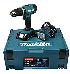 Makita cordless impact drill 18 V / 1,5 Ah including rechargeable battery, DHP453RYLJ
