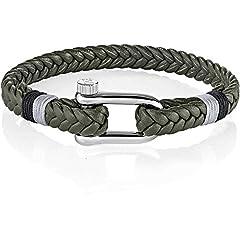 Idea Regalo - MORELLATO Bracciali di corda Uomo acciaio_inossidabile - SAJC11