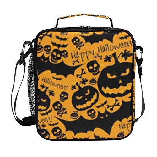 lloween Kürbisschläger Handtasche Lunchbox Lebensmittelbehälter Gourmet Bento Coole Tote Kühltasche Warm Tasche für Reisen Picknick Schule Büro ()