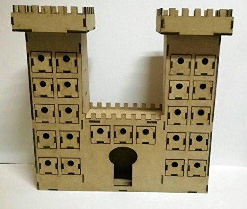 Scrapbooking avec bois. Calendrier de l'avent Château pour peindre et décorer.