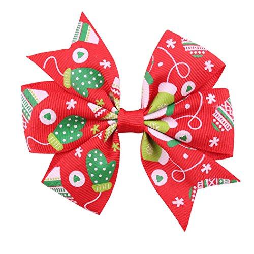 Preisvergleich Produktbild Stirnbänder Transer,bobo4818 Baby MäDchen Weihnachten GroßE GrößE Bownot Head Clip FüR 5-12 Alt