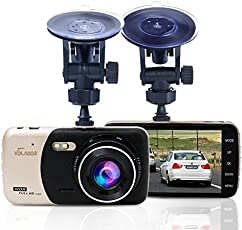 Dash Cam, Volador Dash 1080P FHD macchina fotografica dell'automobile Videoregistratore dell'automobile 170 ° Wide Angle con 4 pollici LCD Motion Detection Monitor di parcheggio e G-sensore