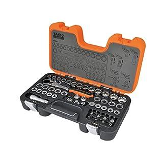 Bahco S530T Pass TROUGHT Socket Set,53 PCS, Orange