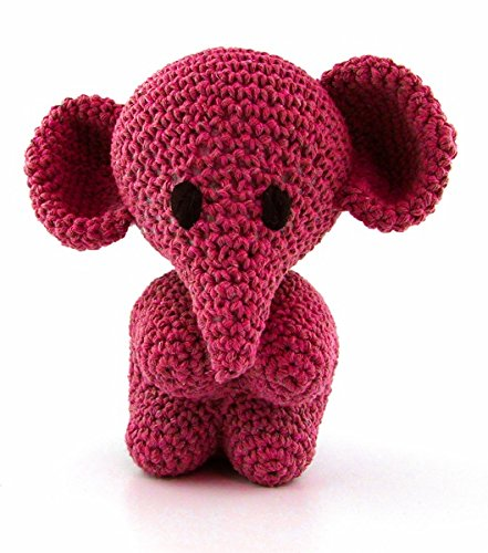 Hoooked Amigurumi Eco Barbante DIY-Häkelset Elefant (punch (magenta)) (Punch Eco)