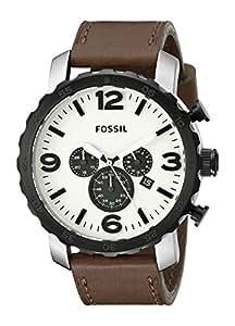 Fossil Herren-Armbanduhr XL Chronograph Leder JR1390