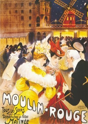 Pósteres Vintage 08 - Moulin Rouge (68 x 47cm) (DT67579-PS-08)
