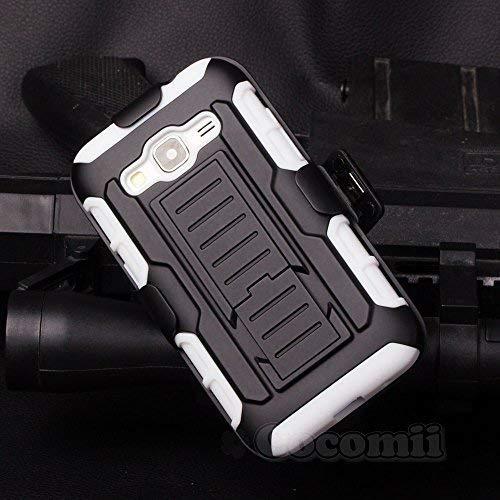 Cocomii Robot Armor Galaxy Core Prime/Win 2/Prevail Hülle [Strapazierfähig] Gürtelclip Ständer Stoßfest Gehäuse [Heer Verteidiger] Case Schutzhülle for Samsung Galaxy Core Prime (R.White)