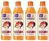 Dark & Lovely - Shampooing Hydratant au Naturale pour Cheveux Crépus, Frisés, Bouclés Naturels  à l'Huile de Mangue et Lait de Bambou - 250ml - Lot de 4
