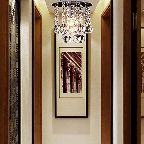 moderne 1 Stück-Kristall-Deckenlampe, einfacher Kristallleuchter für Verbindungsgang, stilvoller Kristallleuchter für Korridor - 2