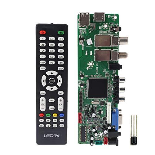 Watermk DVB-S2 DVB-T2 DVB-C-Digitalsignal ATV Maple Driver LCD-Fernbedienung Board Launcher Universeller Dual-USB-Datenträger QT526C V1.1 T. S512.69 -