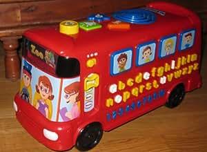 Vtech Playtime Bus Interactive avec le bus de parler Interactive enseigne sons phoniques, les noms des lettres et des chiffres