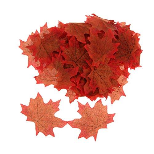 100x Künstliche Ahornblatt Herbst Blätter Kunstblumen Hochzeit Garten Dekoration – Braun