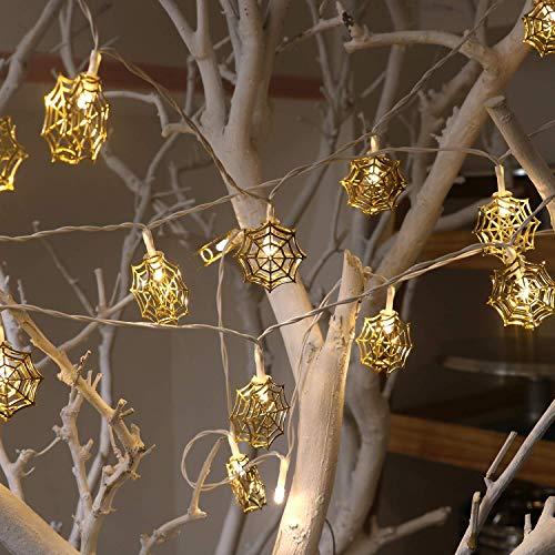 Lichterketten batteriebetrieben & USB Powered, LED Metall Lichterkette für Party, Hochzeit, Weihnachten, Halloween, Haus, Garten Dekoration Indoor/Outdoor