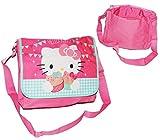 Umhängetasche / Schultertasche - Hello Kitty - für Kinder - Kind Mädchen Pferd Kindergartentasche Tragetasche - Kinderhandtasche Messenger Bag z.B. für Lunchbox - Lunchboxtasche