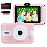 YUNKE Kids Camera, Child Camera, Digital Children Cameras with 8MP 1080P Screen 3.5