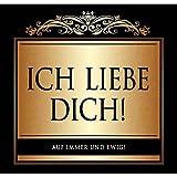 Udo Schmidt Aufkleber Flaschenetikett Etikett Ich liebe dich gold elegant