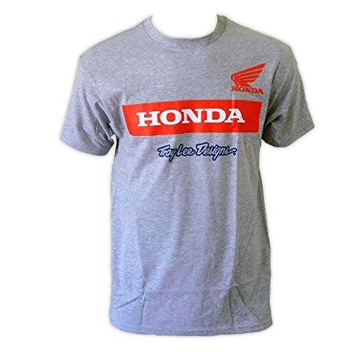troy-lee-designs-da-uomo-honda-ala-blocco-maglietta-grey-small