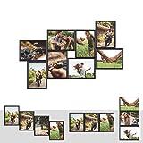 Kunststoff Bilderrahmen Fotorahmen Collage Zum Individuellen Gestalten 8X 15x21cm (Din A5) Schwarz mit Normalglas und Klammern