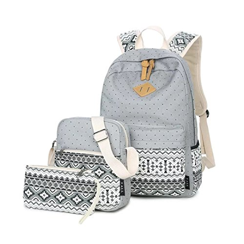 LABABE Canvas Backpack School Bags Set for Teens Girls 919ae21976c