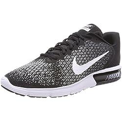 Nike AIR Max Sequent 2, Chaussures de Running Homme, (Noir Foncé/Gris Loup/Blanc), 42 EU