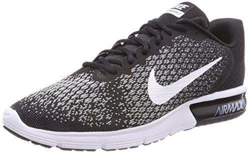 timeless design 63de5 f4c8e Nike Air Max Sequent 2, Chaussures de Running Homme, Noir (Noir Gris