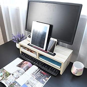 Montante Monitor Colonna universal Supporto Legna Legno vn8wOmN0