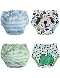 De octubre de Elf Unisex Bebé orinal pantalones de entrenamiento para reutilizable, 4unidades)