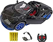 Popsugar Bugatti 1:16 Door Opening Car with Rechargeable Battery and Charger RC Car for Kids