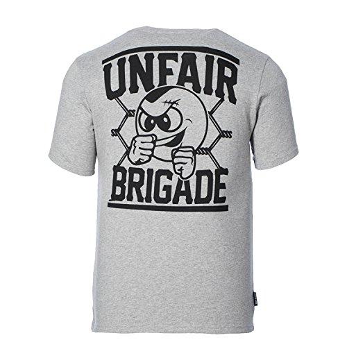 Unfair Athletics Herren Oberteile/T-Shirt Unfair Brigade Grey Melange
