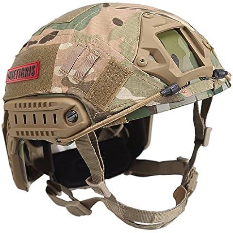 OneTigris–Pj tipo tattico FAST casco per Airsoft e Paintball, con panno,, Multicam