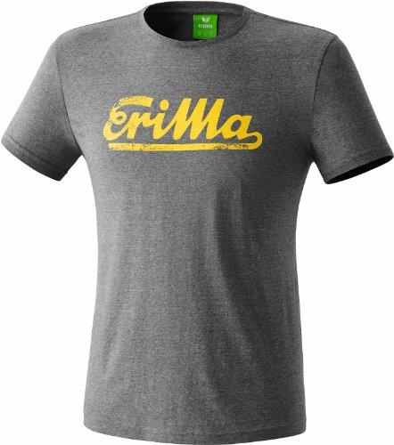 erima Erwachsene Retro T-Shirt, Grau Melange/Gelb, M, 208435 (Retro Männer T-shirt)