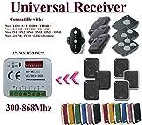 Universal compatible con receptor Nice 433,92Mhz FLOR-S, madera, Apple, ONE, INTI, VR mando radiocomando. Rolling código 2-canal 300Mhz-868Mhz. Rollin
